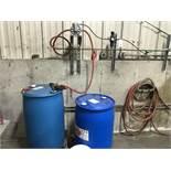 {LOT} 2 Drums of Washer Fluid w/Samsun Pump & Regulator