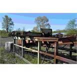 16' DOUBLE END TRIMMER W/ 10HP MOTOR ON SAWS W/BLOCK CONVEYOR W/ DRIVE NOT INSTALLED LOCATED SITE 2