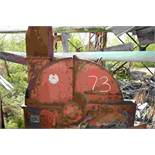 """MORBARK 48"""" 6 KNIFE CHIPPER ON HORIZONTAL FEED TOP DISCHARGE NO MOTOR SN#0109 LOCATED SITE 2"""