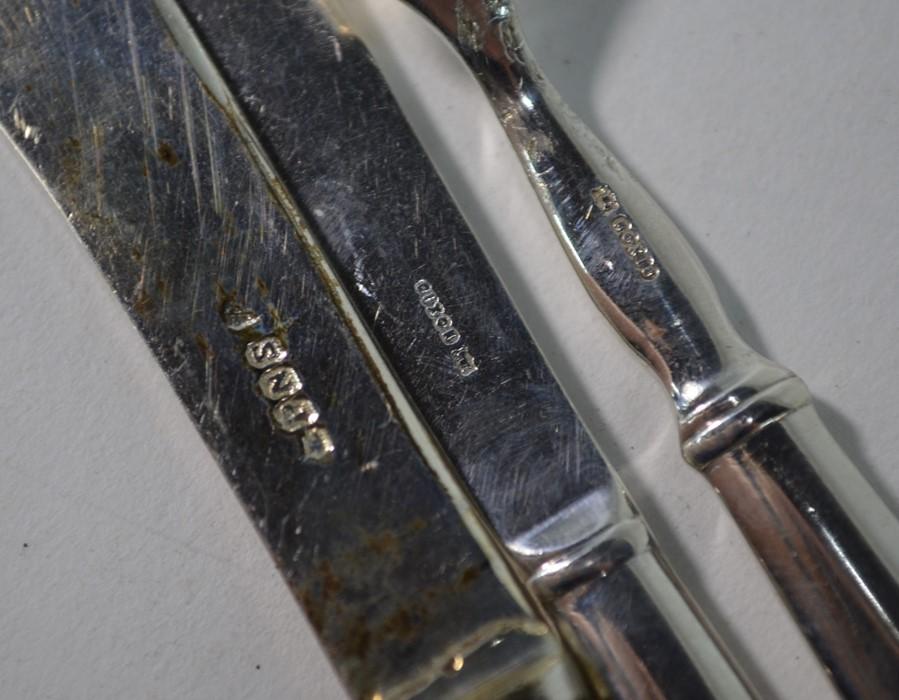 Sampson Mordan silver decanter labels, etc. - Image 6 of 6