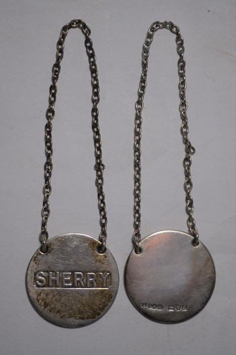 Sampson Mordan silver decanter labels, etc. - Image 5 of 6