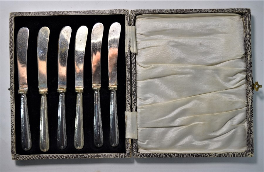 Sampson Mordan silver decanter labels, etc. - Image 3 of 6