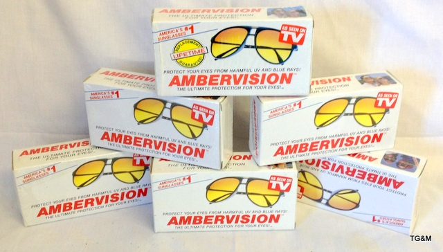 Ambervision Sunglasses  6 pairs of ambervision sunglasses unopened and boxed