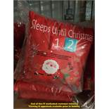 6 X COUNTDOWN TO CHRISTMAS CUSHIONS (TWI