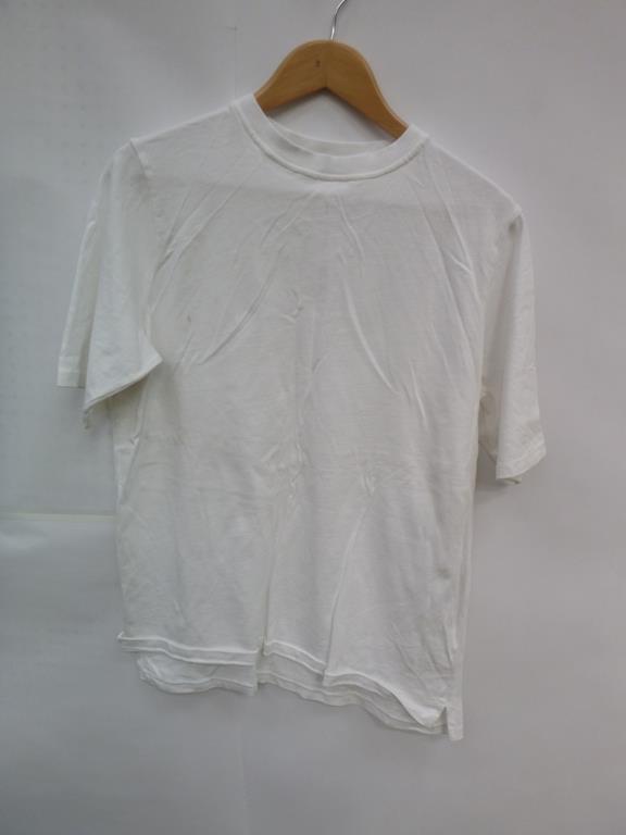 Lot 726 - Three White Short Sleeve T-Shirt (2 XS, M), White Long Sleeve Jacket (S), Bright Yellow 'MX ISM' T-