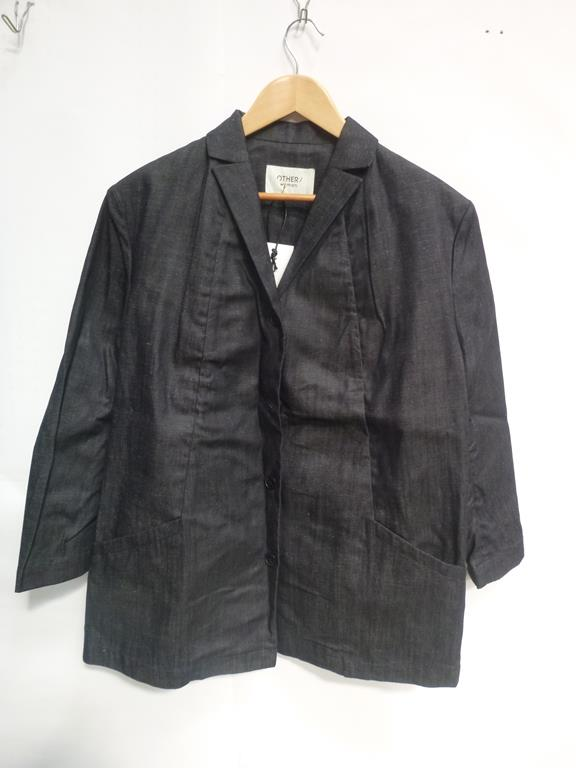Lot 719 - Two Dark Ladies Blazers/Jackets (M, L), Lemaire Plastron Long Sleeve Denim Top (42), Black and White
