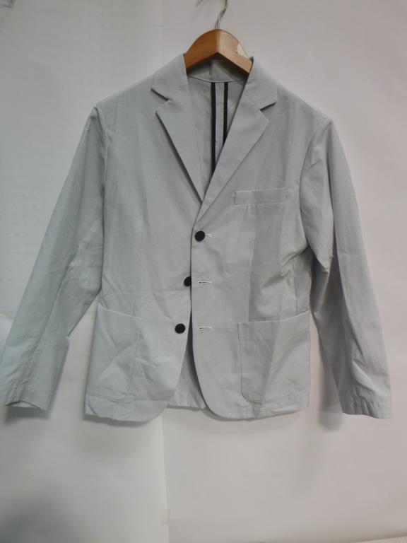 Lot 718 - A Dark Ladies Blazer/Jacket (L), Yacco Maricard White Cotton Dress (?), Squared Black and White Dres