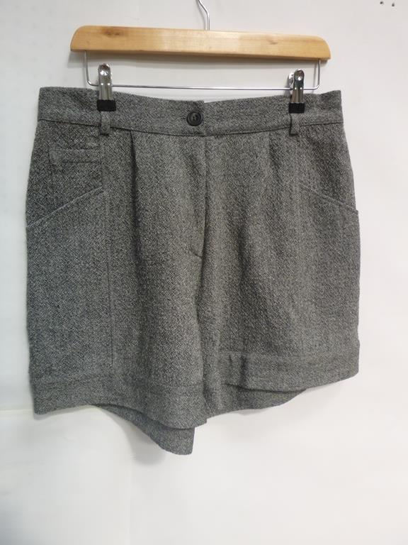 Lot 721 - Two Aesop Wool Grey Shorts (L), Herringbone Grey Trousers (L), Bender Cheek Trouser Skirt (M) and Pu