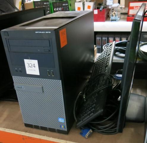 A Dell Optiplex 3010 Core i3 PC c/w 22'' monitor  Hard
