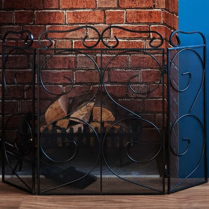 Lot 49 - Wildon Home Tapton Steel Fireplace Screen (WLDH1949 - 14764/13) 2D