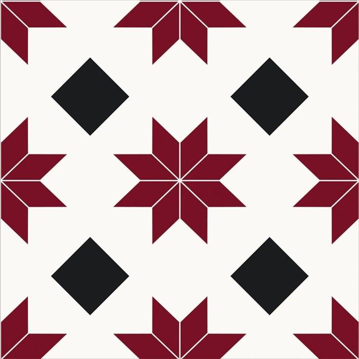 Lot 3 - Hokku Designs Orion 30.48 x 30.48cm Vinyl Field Tile in Red (HOKD8604 - 14611/4) 1C