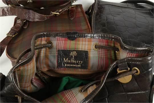 765519de4a811 Four Vintage Mulberry Handbags, to include a tartan Scotchgrain ...