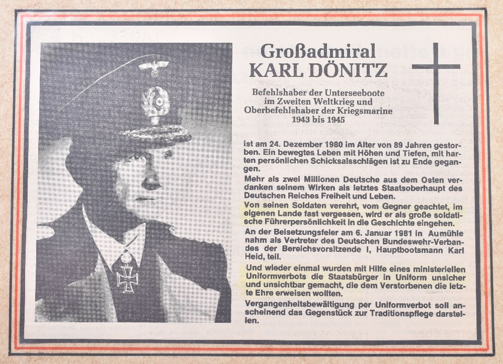 Grand Admirals Baton Given to Grand Admiral Karl Donitz in the Post War Years to Replace the Origina - Image 22 of 23