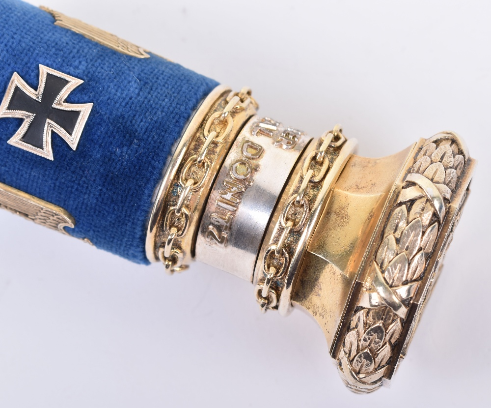 Grand Admirals Baton Given to Grand Admiral Karl Donitz in the Post War Years to Replace the Origina - Image 12 of 23