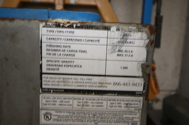 Lot 57 - EnerSys Ironclad Workhog 36 Volt Forklift Battery, Type: 585-25