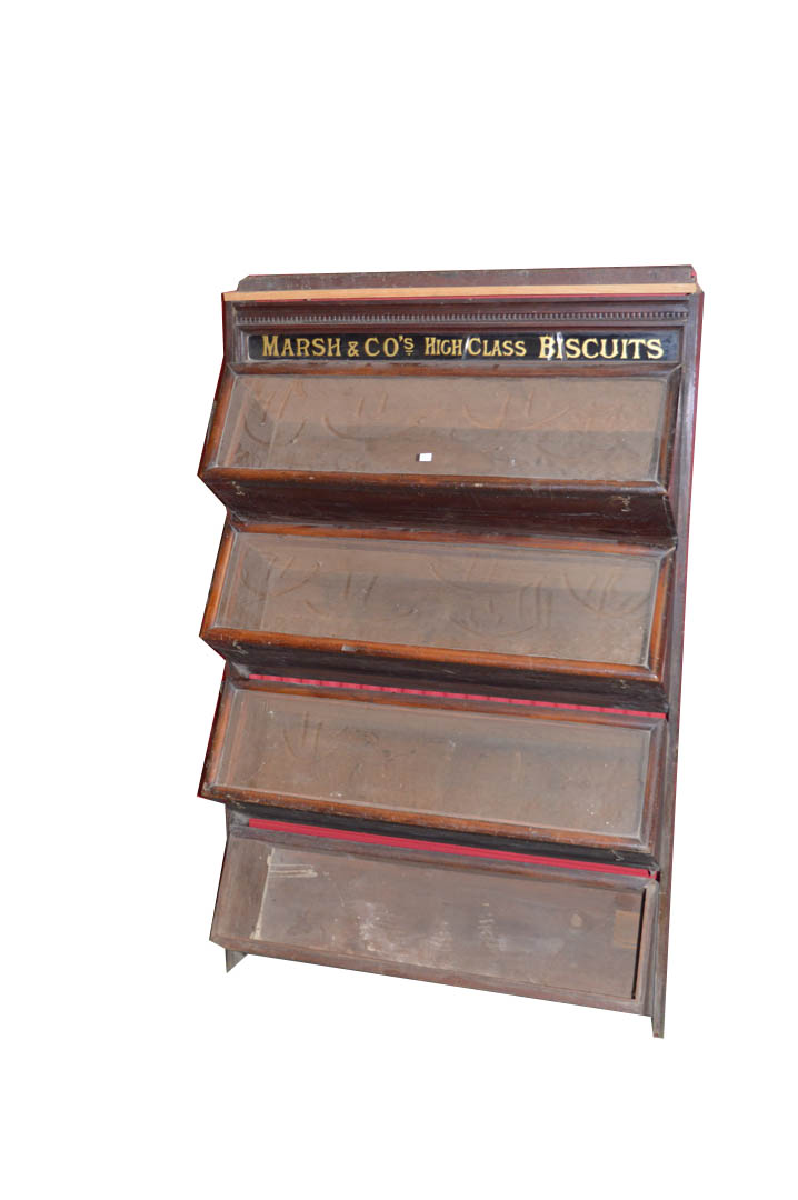 Lot 50 - A Nice Old 'Marsh & Co's, High Class Biscuit Four Bin Stand