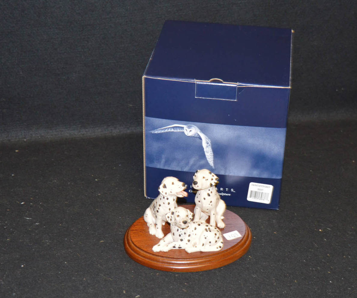 Lot 514 - A Border Fine Art Figurine 'Dalmation Pup Group'