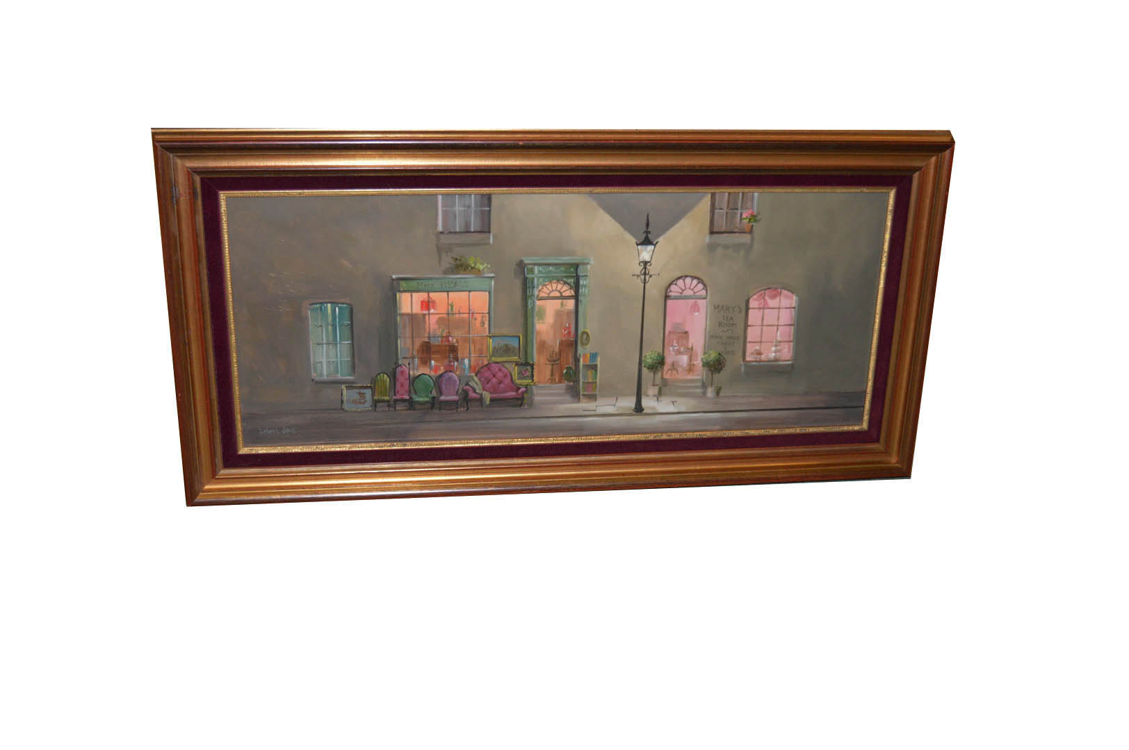 Lot 266 - An Oil Painting 'Mrs Beale Antiques - Deborah Jones