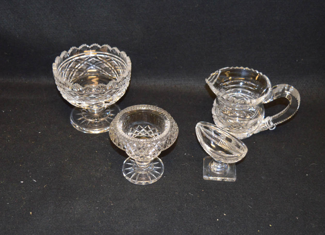 Lot 23 - Three Good Pieces of Waterford Crystal and a Crystal Salt