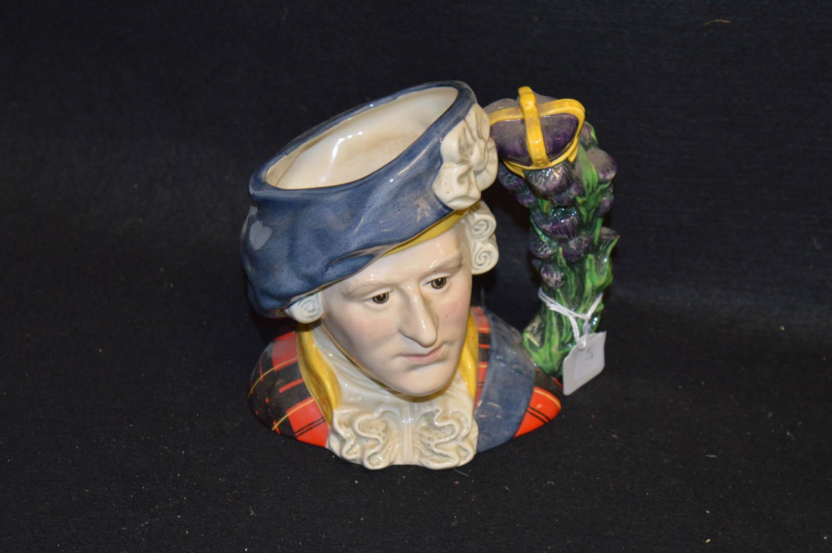 Lot 1 - A Royal Doulton Jug 'Bonnie Prince Charlie'