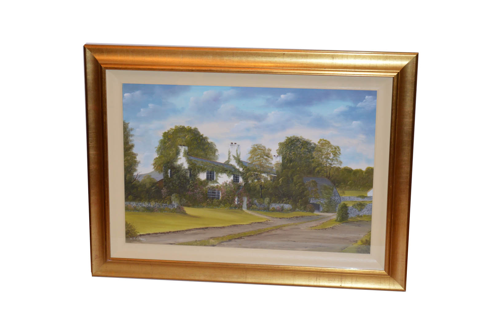Lot 450 - An Oil Painting 'Country Living' - W McGivern