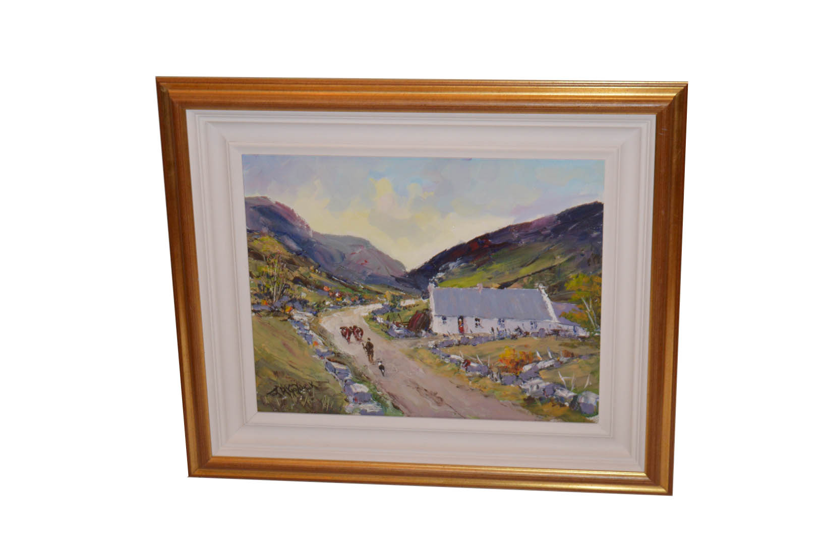 Lot 347 - A Very Nice Oil Painting 'Milking Time' - Tom McGoldrick