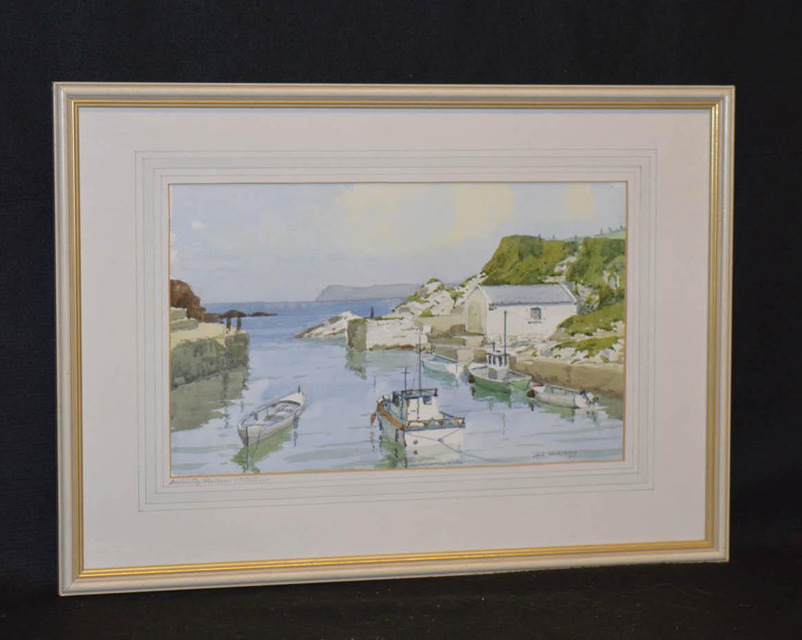 Lot 43 - A Watercolour 'Ballintoy Harbour' - Jack Wilkinson