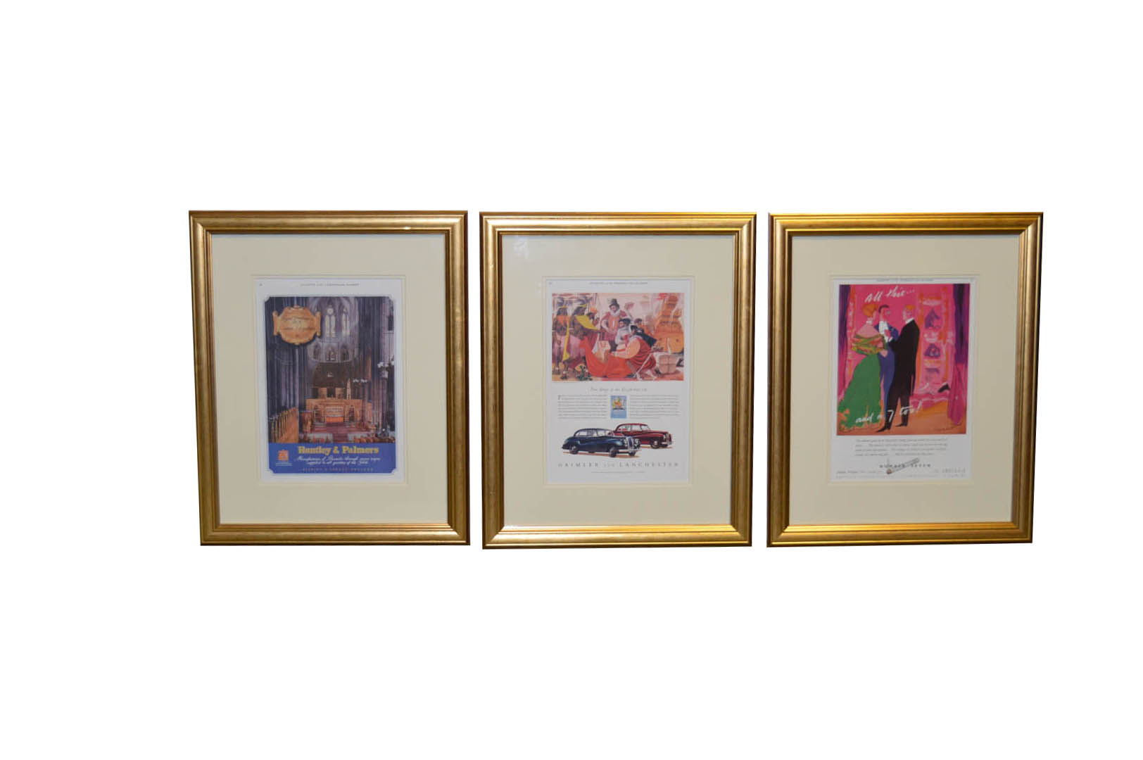 Lot 47 - A Set of Three Nicely Framed Advertising Prints