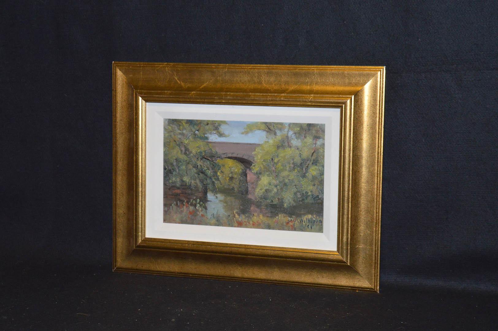 Lot 69 - An Oil Painting 'The Railway Bridge, Ballymoney' - Jack Wilkinson