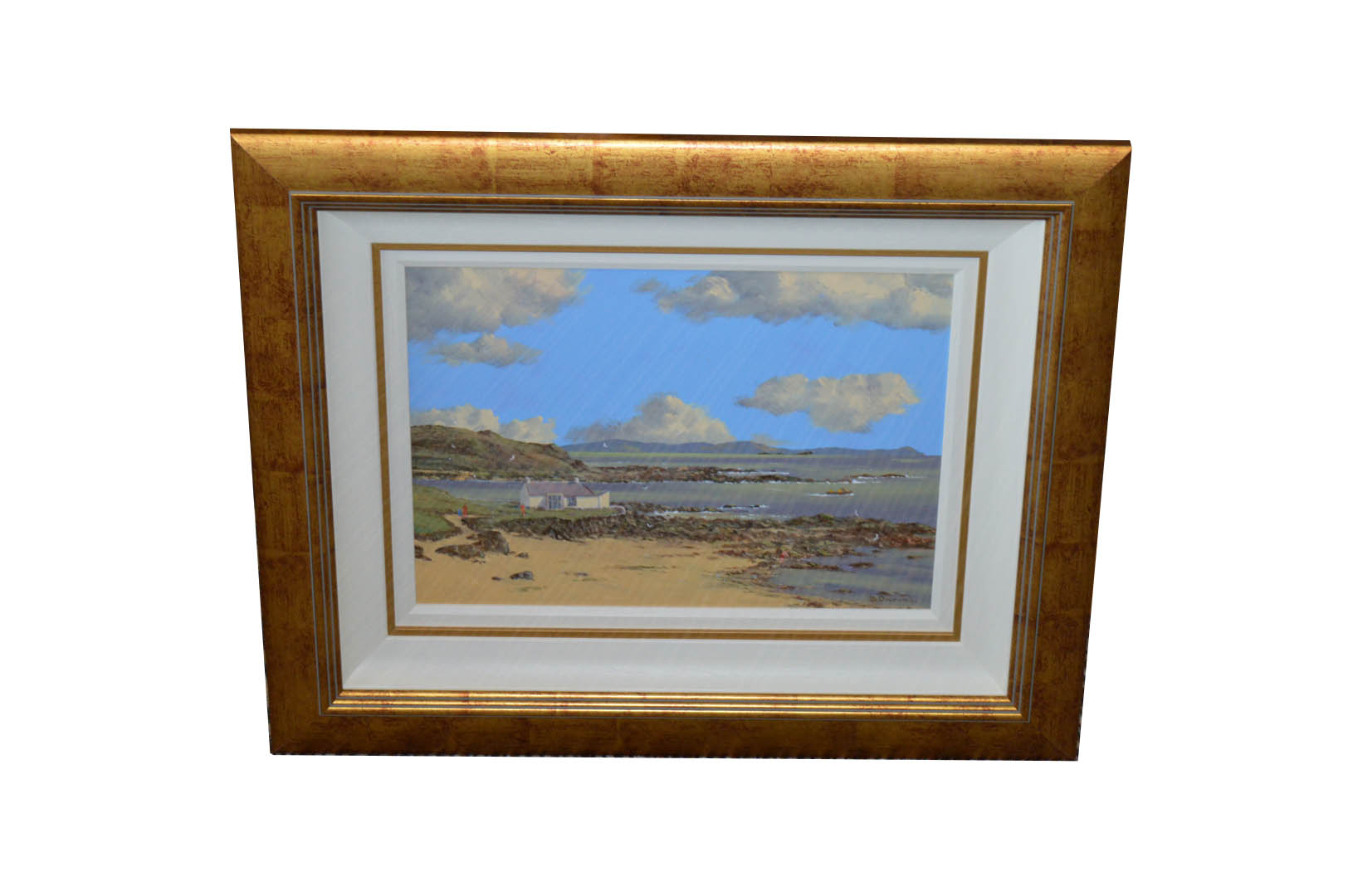 Lot 305 - A Framed Oil 'Portballintrae' - David Overend