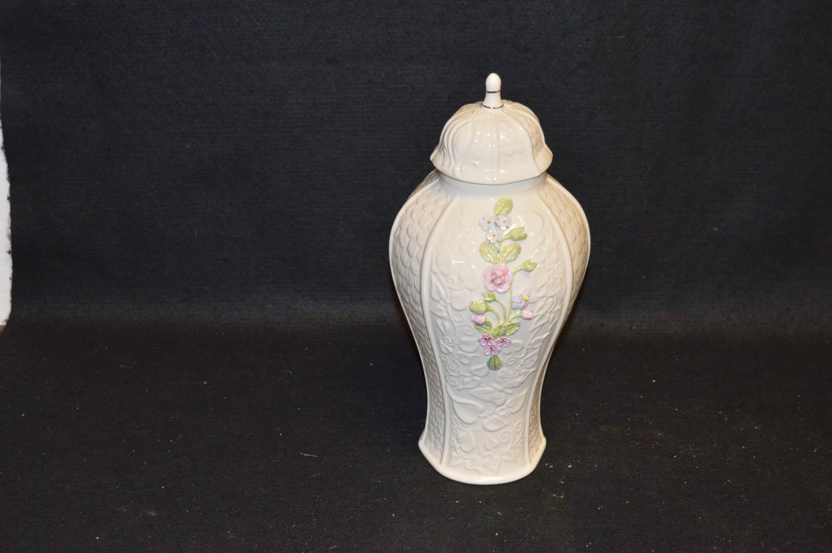 Lot 29 - A Belleek Limited Edition Millenium Vase