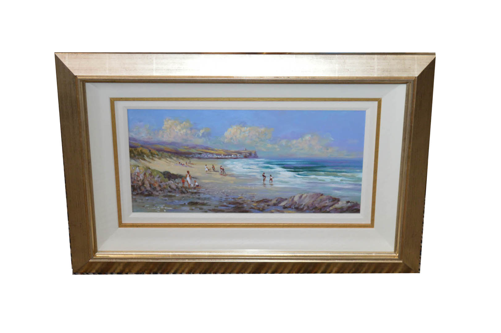 Lot 279 - A Framed Oil Painting 'On Portstewart Strand' - William Cunningham