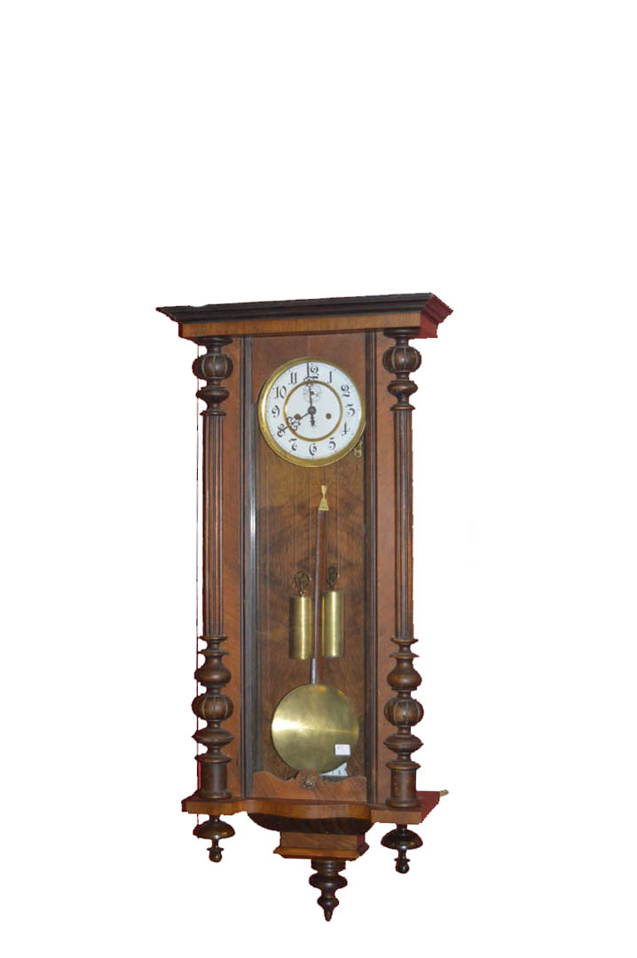 Lot 56 - A Double Weight Gustoff Becker Vienna Wall Clock