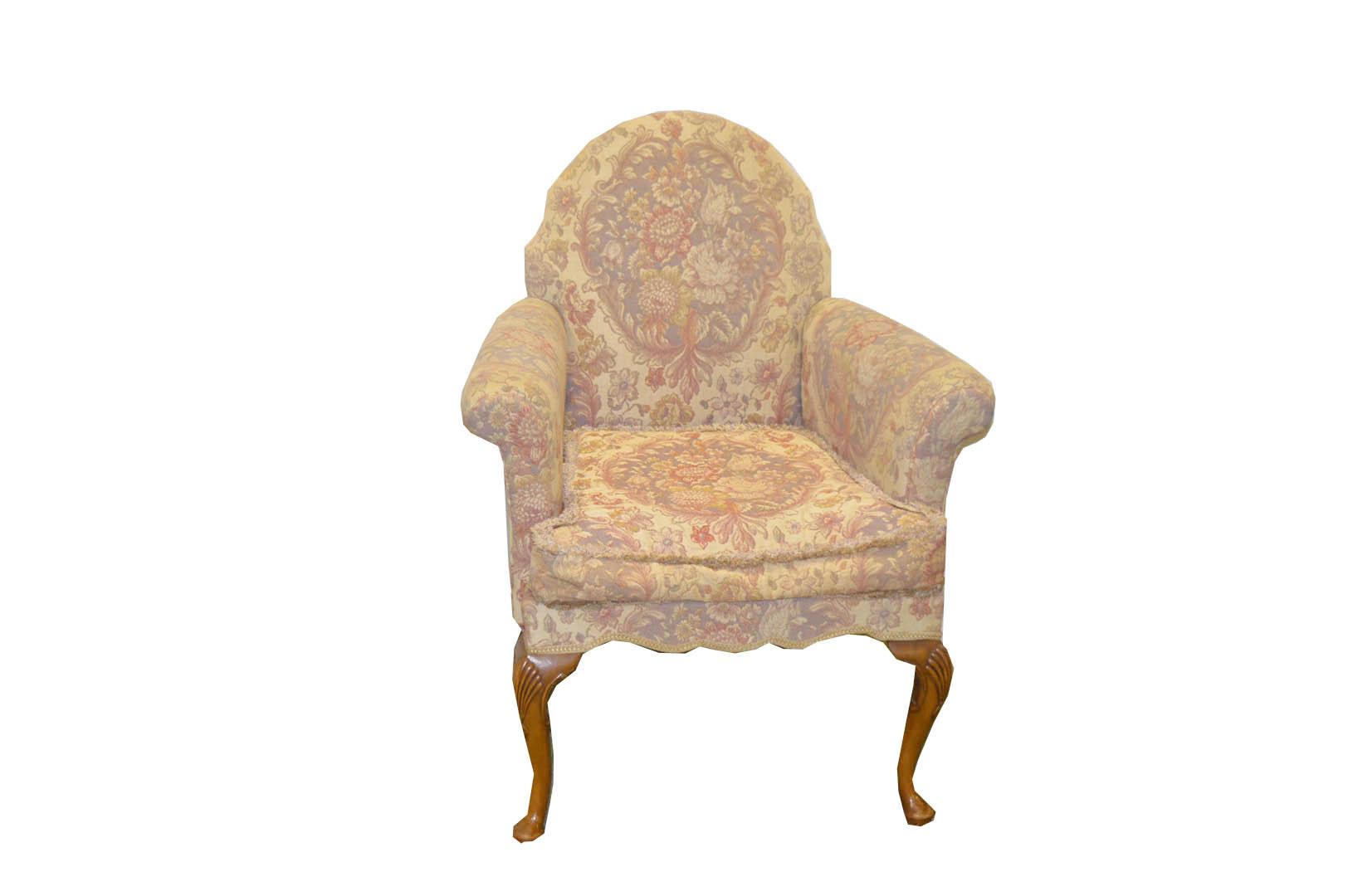 Lot 45 - A Very Nice Walnut Framed Uphosltered Armchair