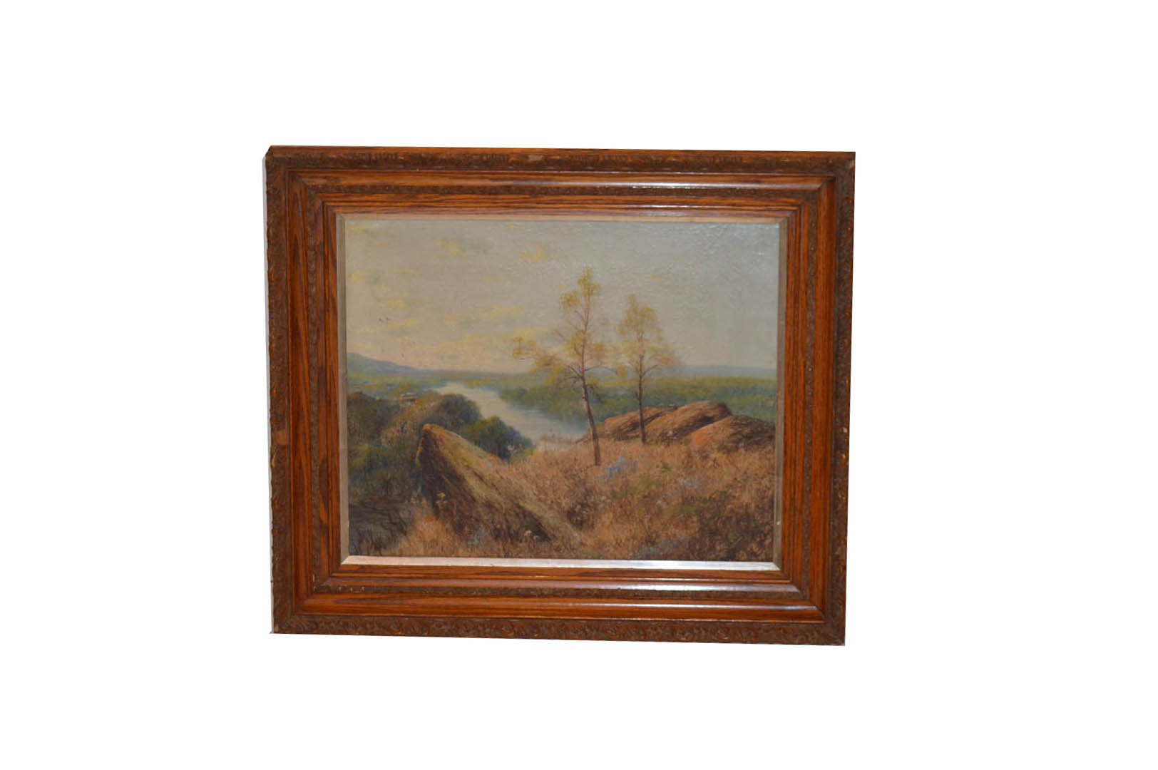 Lot 396 - An Oil Painting 'Landscape' in Ornate Frame