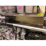 "DESCRIPTION: 48"" X 12"" TWO TIER STAINLESS WALL SHELF. SIZE: 48"" X 12"" LOCATION: KITCHEN QTY X 1"