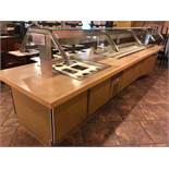 "DESCRIPTION: RANDELL 10' REFRIGERATED DROP IN AND 40"" DROP IN W/ 210"" X 48"" BUFFET CABINET BASE AND"