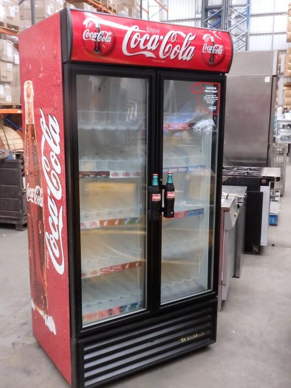 Lot 67 1 X Oversized 2 Door Coca Cola Merchandiser Refrigerator