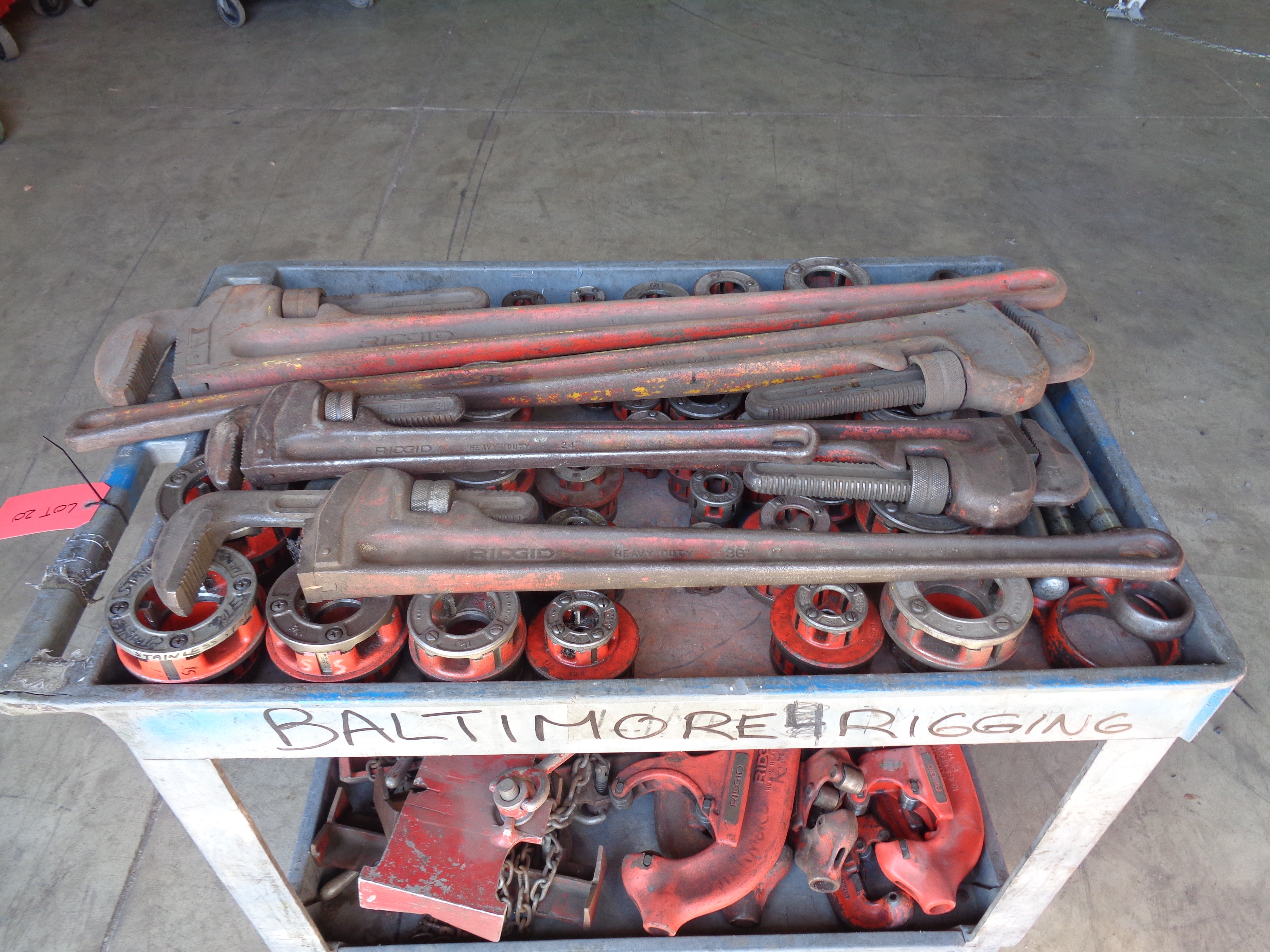 Pipe Wrenches, Clamps, Cutters, and Die