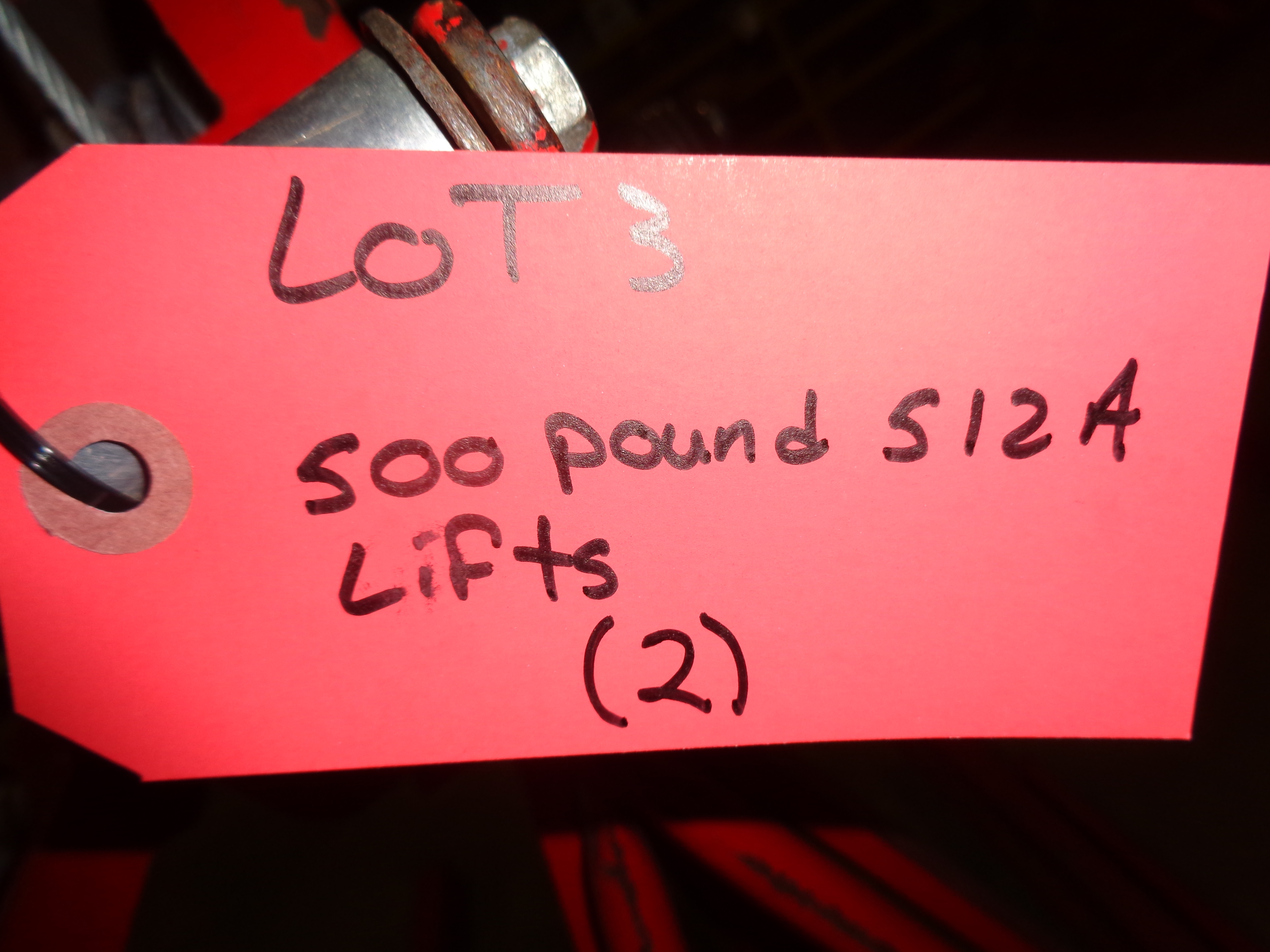 Lot of 2 - 500 lb 512A Lifts - Image 4 of 4