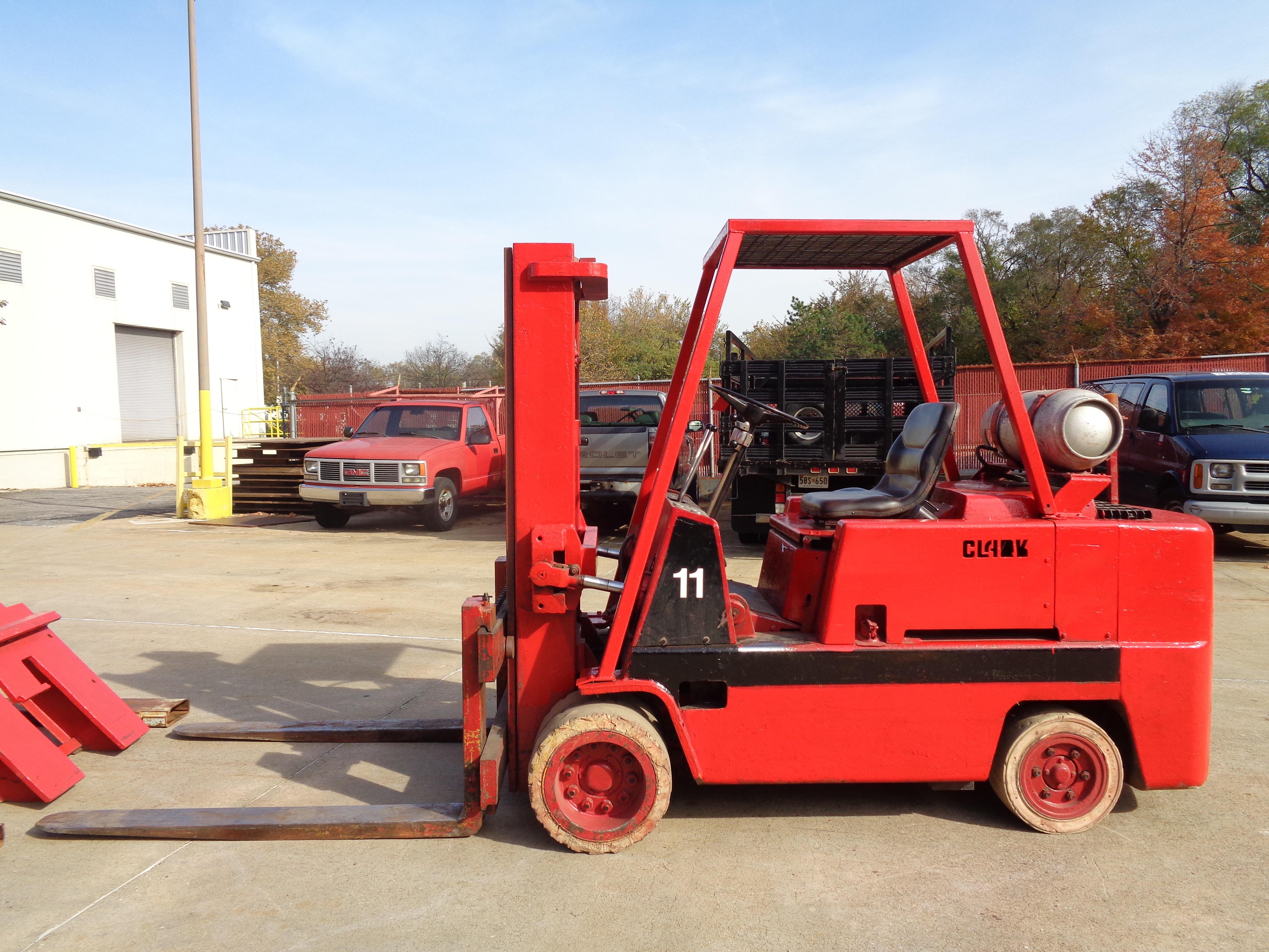 Clark C500-120 Forklift plus boom - 12,000 lbs