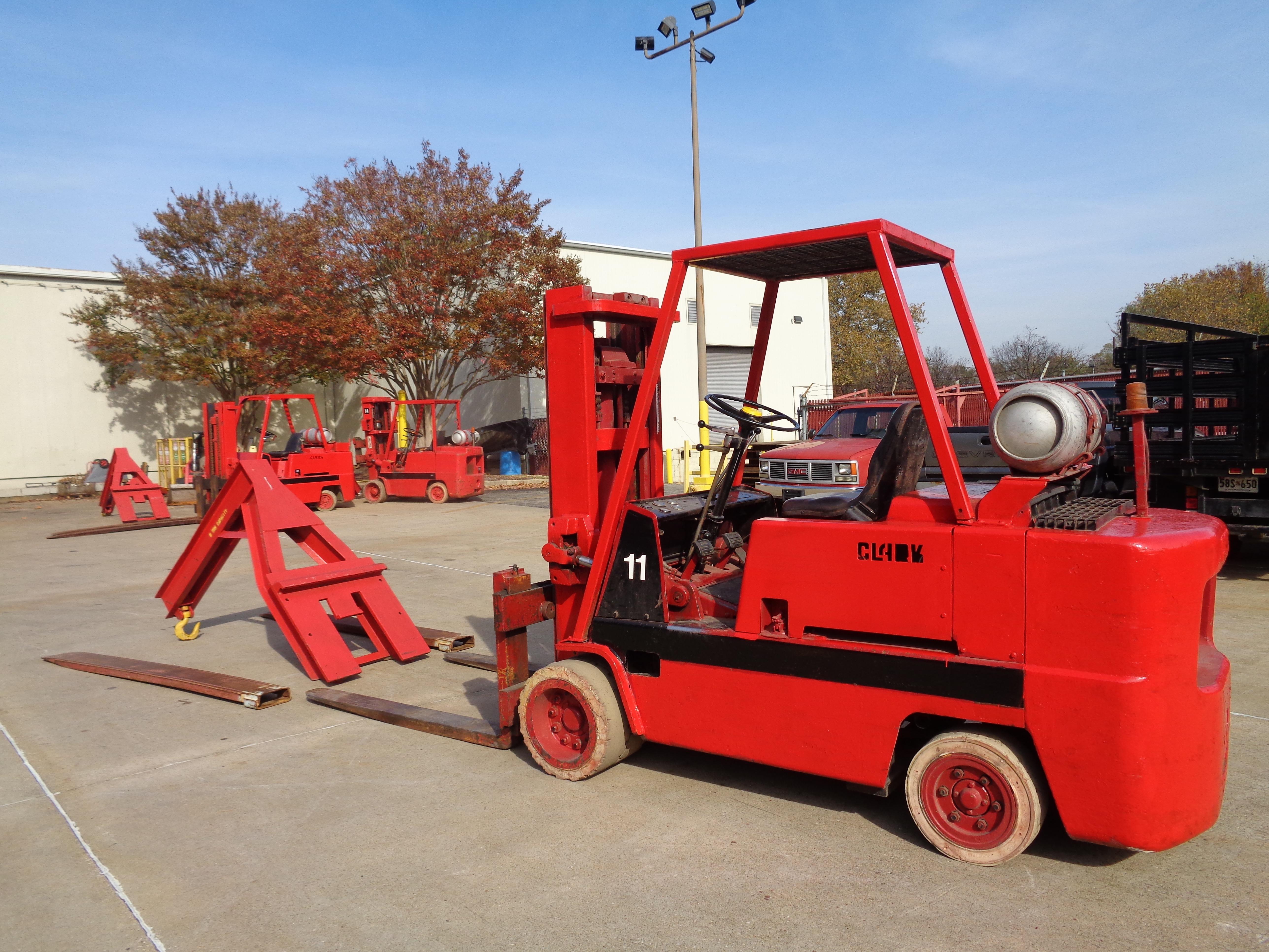 Clark C500-120 Forklift plus boom - 12,000 lbs - Image 2 of 11
