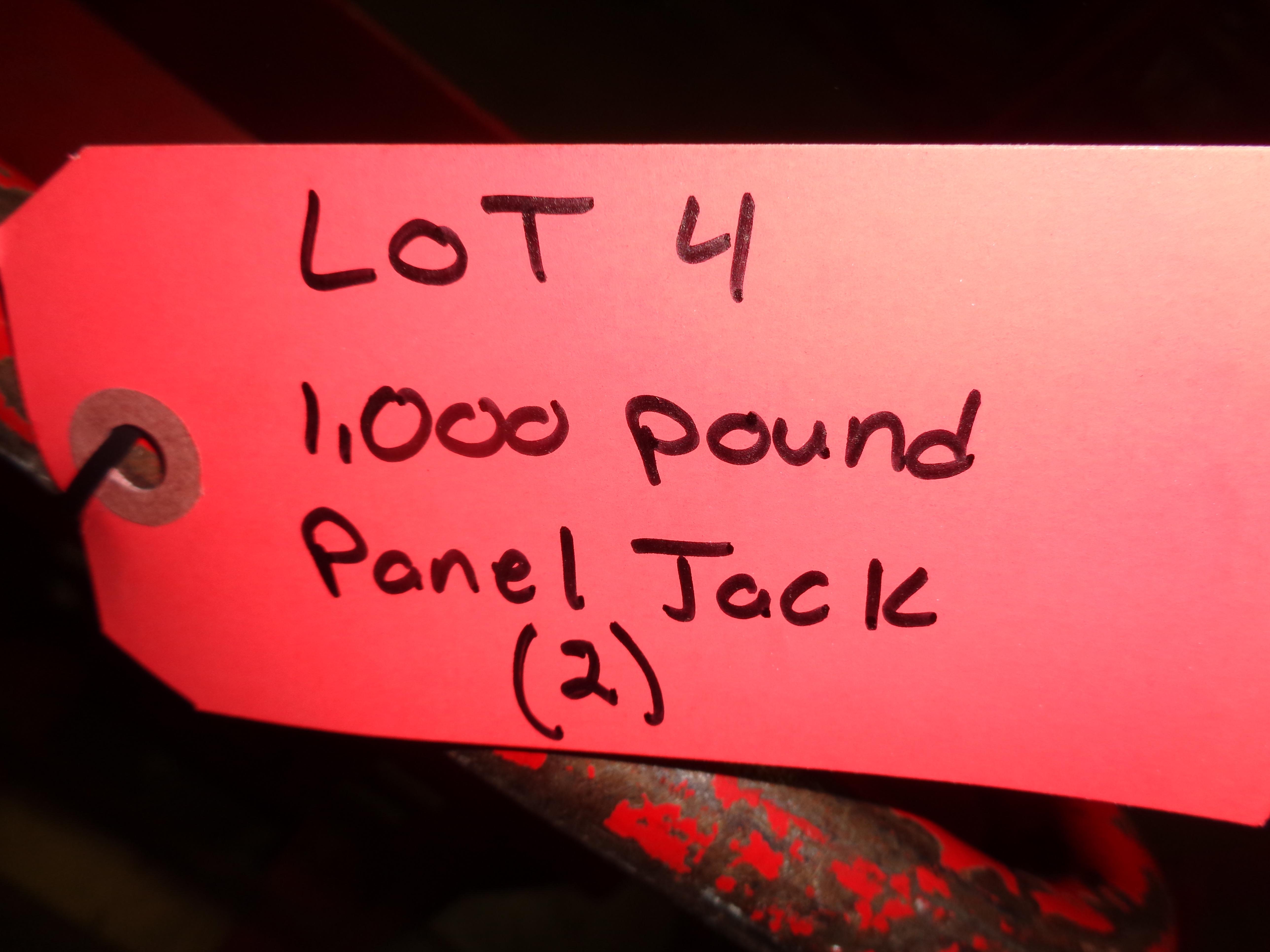 Lot of 2 - 1,000 lb Panel Jacks - Image 4 of 4