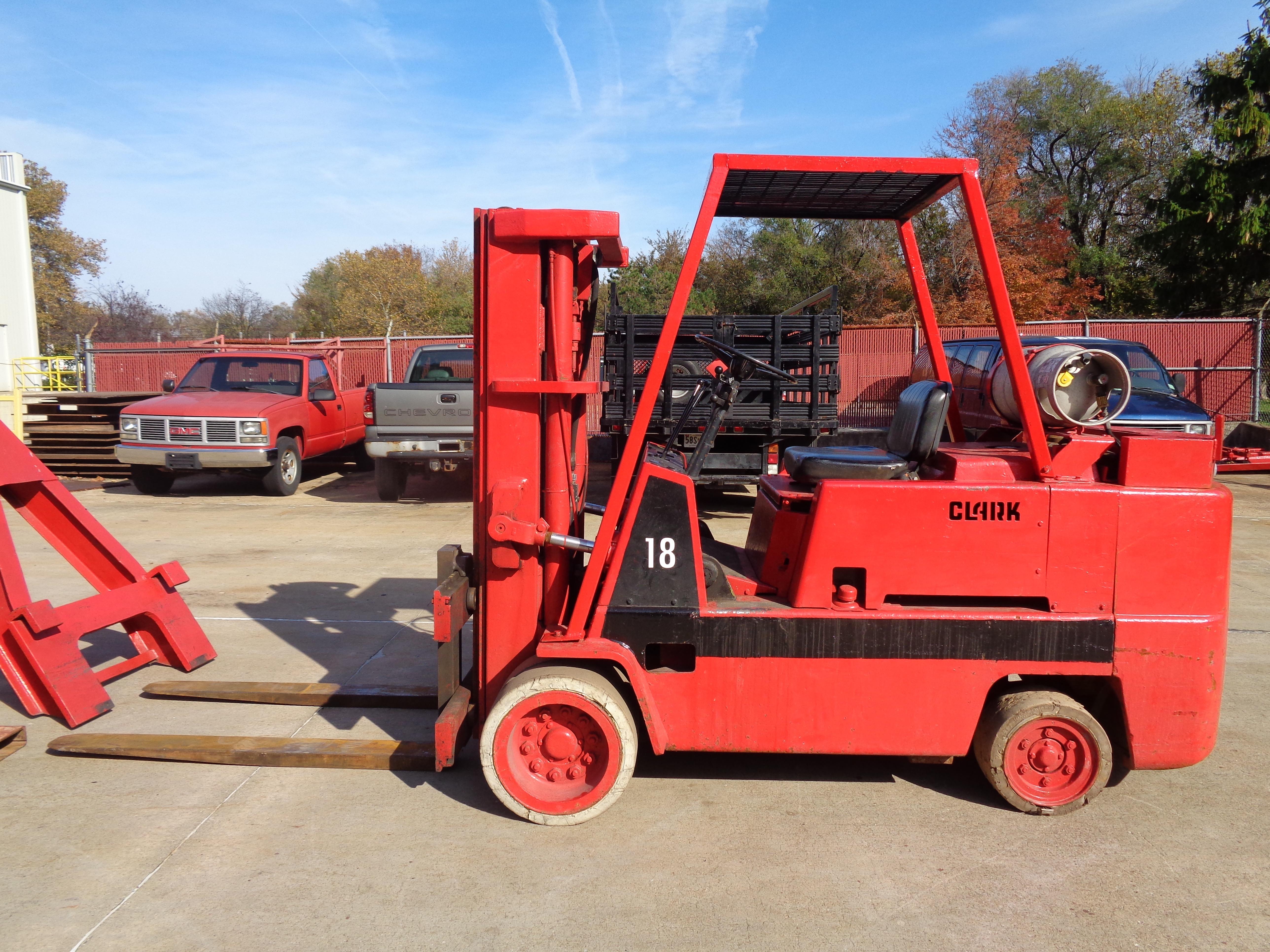 Clark C500-135 Forklift plus Boom- 14,000 lbs