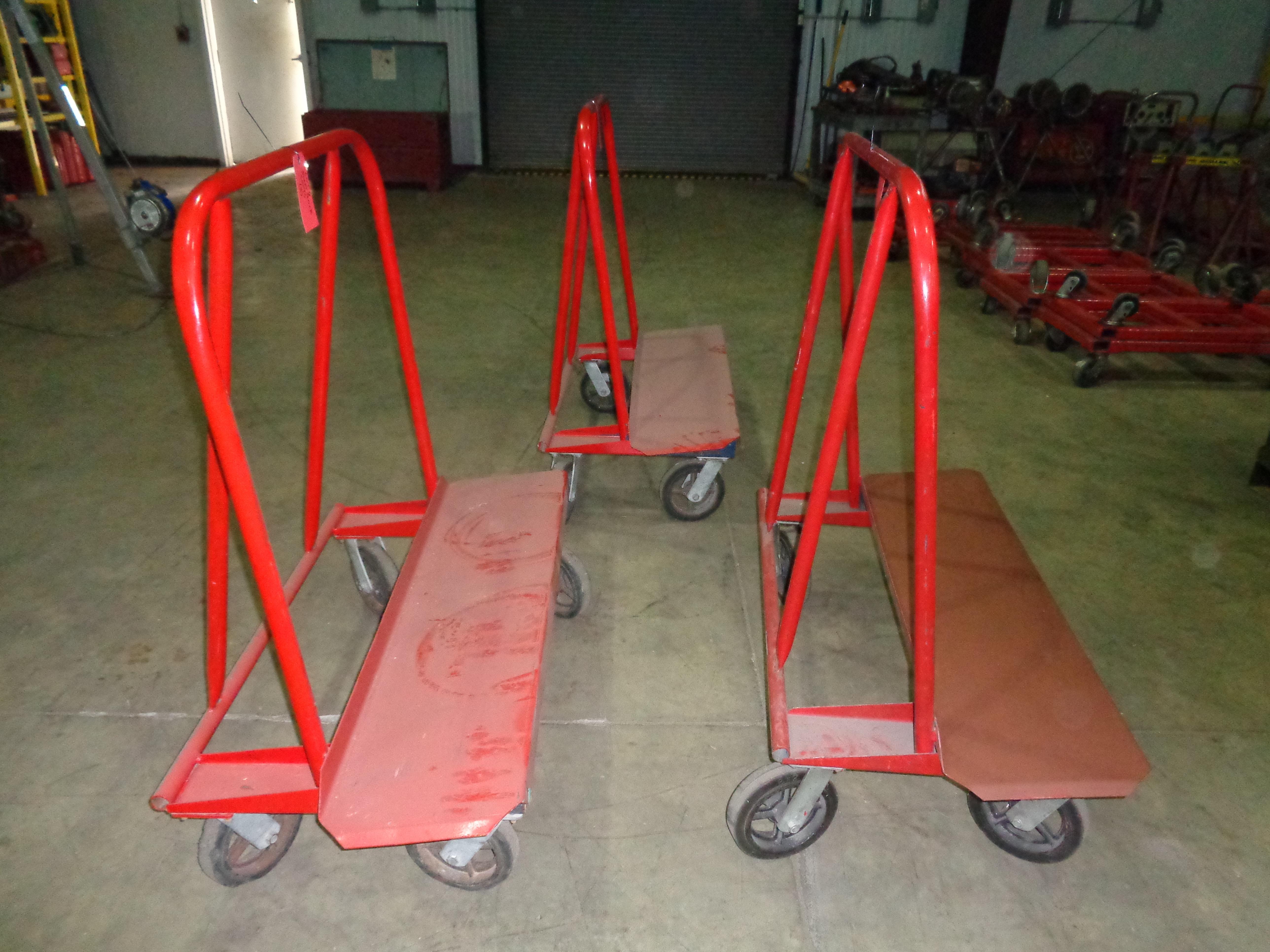 Lot of 3 - Jescraft Sheetrock Carts