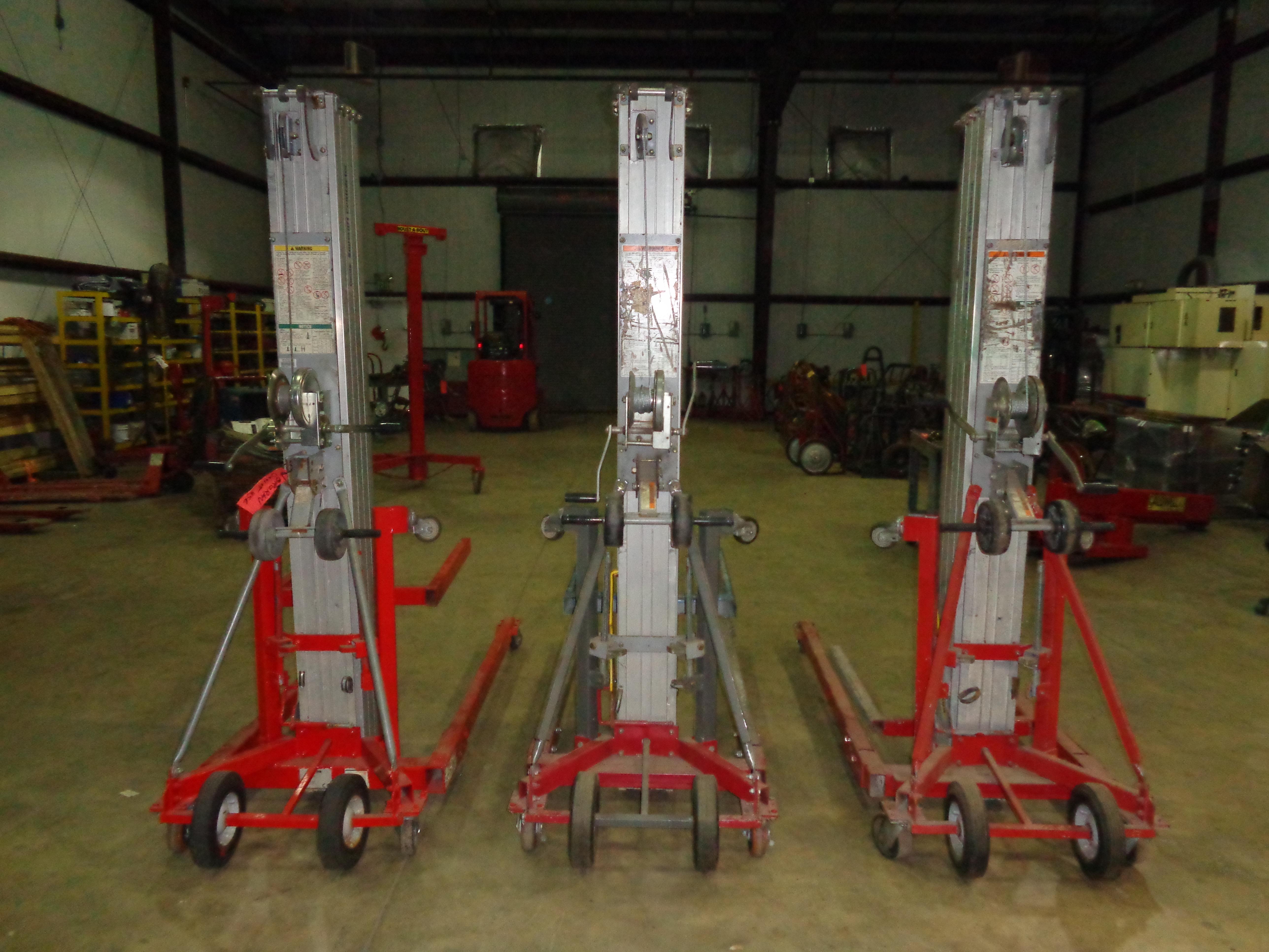 Lot of 3 Genie SLC-24 Duct Lifts