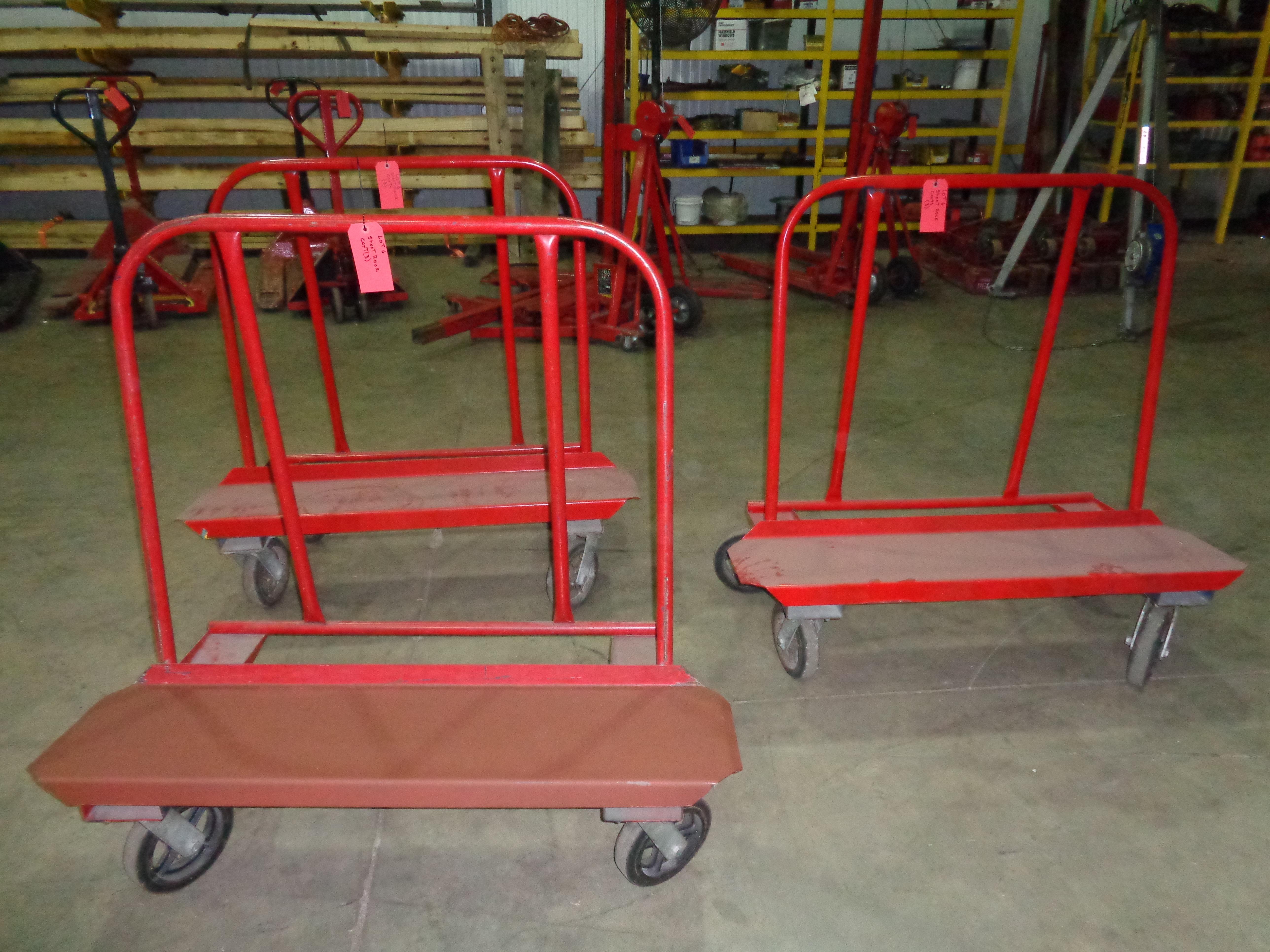 Lot of 3 - Jescraft Sheetrock Carts - Image 3 of 4