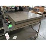 "Granite Surface Plate w/ Cart, 30""x36""x7"""