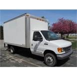 2006 Ford F350, 13' Bobtail Van Truck, Gas Fuel w/ Fiberglass Top; Miles: 57,759; Lic# TK954LBY;