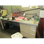 """Stor-Loc Work Bench w/ 4-Drawer Cabinet w/ 50-Taper Setting Fixture, 96""""x30""""x35""""H"""
